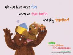 Looking for strategies to help your children overcome sibling rivalry? Download our Little Children, Big Challenges Family Guide at: www.sesamestreet.org/challenges!