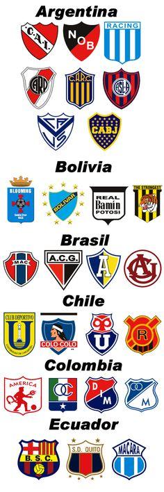 Escudos de equipos de futbol de Sudamerica