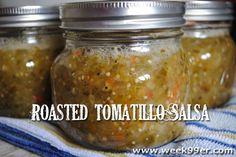 Roasted Tomatillo Salsa - Canning Recipe - Gluten Free!