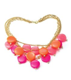 #DIY Pink Statement Necklace from Joann.com