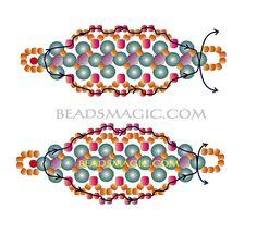 bead magic, bead pattern, free pattern, bead bracelet, bracelet sona
