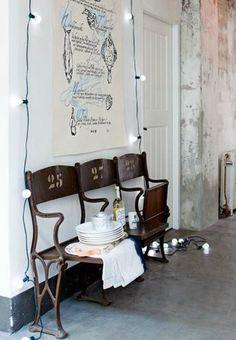 light bulb string lighting