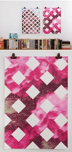 Elizabeth Corkery - silkscreen (edition of 30) floral prints, silkscreen edit, pattern, screen print, garden trellis, contemporary art, elizabeth corkeri, design, elizabethcorkeri