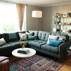 Origami Coffee Table + pillows from west elm