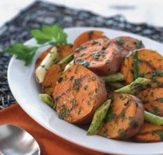 Grilled Sweet Potatoes and Scallions