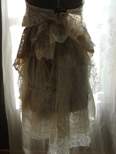 Wedding bridal gown vintage lace one of a kind by SummersBreeze, $269.00