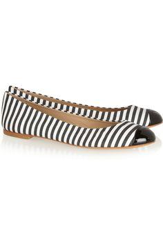 stripe ballet flats / giuseppe zanotti