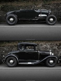 1928 Ford Model A Roadster and 1931 Ford Model A Coupe.