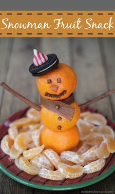Snowman Fruit Snack
