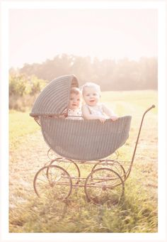 8 Month Old Twins by Bellini Portraits
