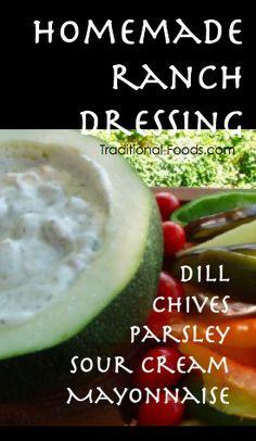 Homemade Ranch Dressing @ Traditional-Foods.com