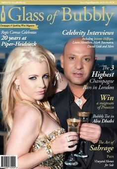 Jaimie Hilfiger and Igal Dahan on the cover of Glass of Bubbly Magazine