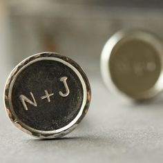 Engraved cufflinks for the grooms gift. Thought this was neat since it was our initials