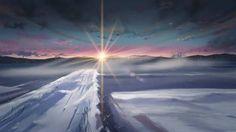 Icy sunset...