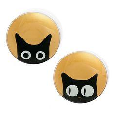 Glass Cat Eye Plate Set Of 2