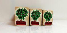 """Tree Cane #23 """"Potted Cumquat"""" by Wendy Jorre de St Jorre"""