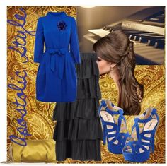 """Cobalt Dress Coat Apostolic Style"" by emmyholloway on Polyvore"