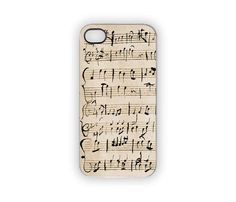 Music Note Mozart iPhone Case Apple iPhone Cover 5S by Inspireuart, $21.00 #music #notes #mozart #iPhone #iPhonecase #5S #4S