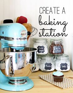 super easy baking station - make it in minutes!