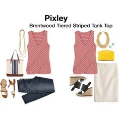 Pixley Brentwood Tiered Striped Tank