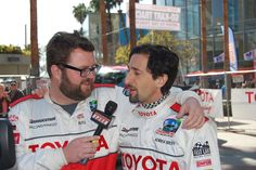 Rutledge Wood interviews Adrien Brody at the 2012 Toyota Pro/Celebrity Race in Long Beach. #TPCR