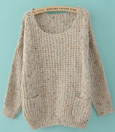 gray embellished sweater.