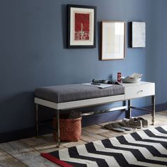 Offset Bench by West Elm