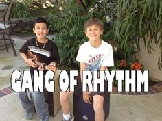 "Walk Off the Earth, ""Gang of Rhythm"" - Cover by JD and Ryan.  Talented Kids!"