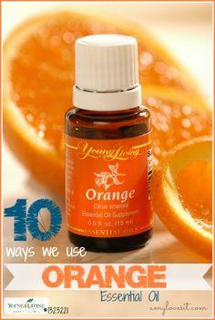 10 Uses for Orange Essential Oil | AmyLovesIt.com #oilyfamilies