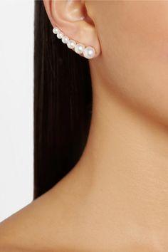 Sophie Bille Brahe|14-karat gold pearl ear cuff