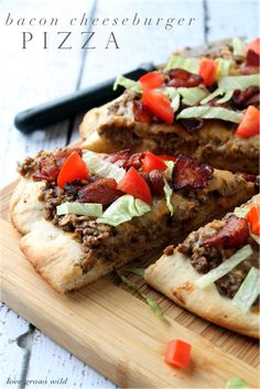 Bacon Cheeseburger Pizza with Velveeta Cheese