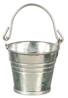 Tin Bucket | Mary's Dollhouse Miniatures