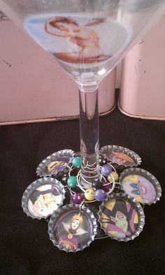 bottle cap wine charms
