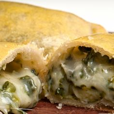 A Very yummy recipe for spinach mozzarella empanada. Serve warm.. Spinach Mozzarella Empanada Recipe from Grandmothers Kitchen.