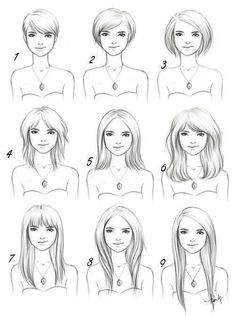 Drawing hair reference.