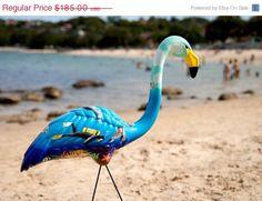 Handpainted Custom Plastic Flamingo              $185