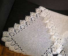 Willow Pattern Shawl by Mary Konior. Crochet Square shawl; I have this pattern