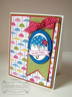 Stampin' Up! Baby Card  by Connie C at Constanly Stamping