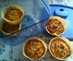 Super easy gluten free, dairy free, grain free Honey Nut Muffins.