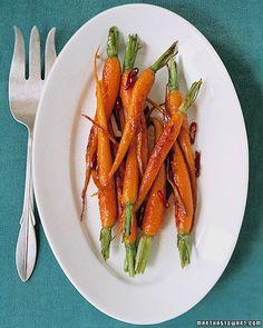 glazed carrots and ginger (option 2)
