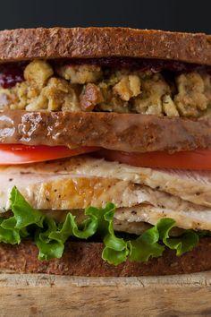 Thanksgiving Turkey Sandwich...interesting :)