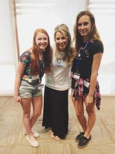 CEO and Founder of Girl Talk Haley Kilpatrick with girls from LeaderU