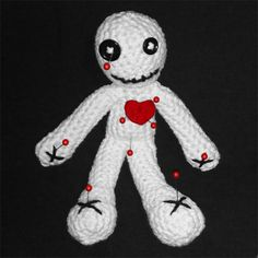 Amigurumi Voodoo Doll Free Pattern, Could be used as a poppet