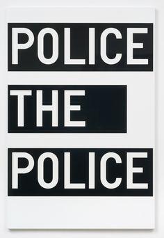 Rirkrit Tiravanija, untitled (police the police), 2011