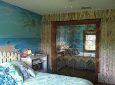 hawaiian theme bedroom mural by estelle gomulka