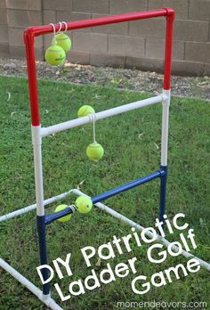DIY Patriotic Ladder Golf Game From Sara MomEndevors.com @Lowe's