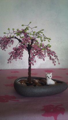 arbre en perles de rocailles