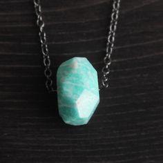 Vertical Amazonite Necklace
