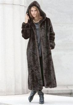 Photo: Roamans.com. fake fur, smake fur. Anyway around it, I LOVE IT! It is warm and fashionable and I love the hood. High style and looks great when dressed up or just with jeans.