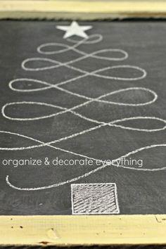 Christmas Tree Chalk Art 4.1